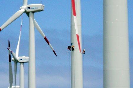Industriekletterer Service für Windkraft