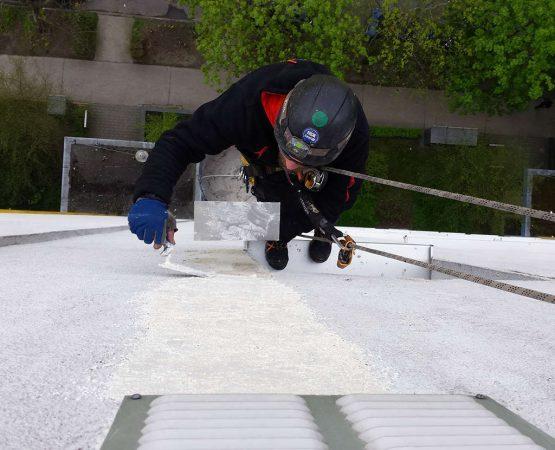 Verputzarbeiten an Außenfassade